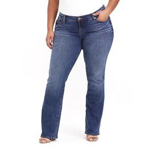 Torrid Relaxed Boot Mid Rise Dark Stretch Jeans